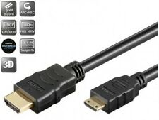 2m goobay hdmi™ kabel mit ethernet vergoldet an mini c stecker hdcp arc hec 3d