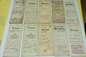 VINTAGE LEGAL MORTGAGE (10) PAPER DOCUMENTS 1890 TO 1946 YORK ALTOONA PA