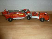 GAMA  2622 - Feuerlöschzug, Feuerwehrfahrzeug Blechspielzeug