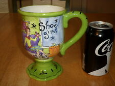 """ SHOE GIRL"" by: Jennifer Brinley, JUMBO SIZED - TALL STEMMED Ceramic Coffee Cup"