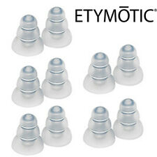 ETYMOTIC 10 Pack ER38-15SM Standard Frost 3-Flange Eartips for ER4, HF, MC, ETY