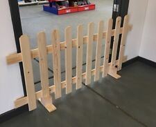 Strong Wooden Free Standing Portable Picket Fence Panels 6ftx3ft Planed Smooth