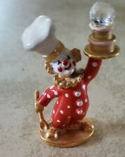 Rare Spoontiques Clown Chef Crystal Disco Ball Pewter Figurine Km479