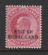 SOMALILAND 1903 1a CARMINE WITH 'BRIT SH' VARIETY SG 26a MNH.