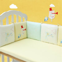 6Pcs Baby Bed Crib Cot Bumper Infant Safe Protector Cushion Pad Nursery Bedding
