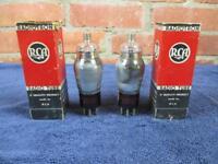 Lot of 2 RCA Radiotron 1A6 Vacuum Tubes Tested NIB NOS