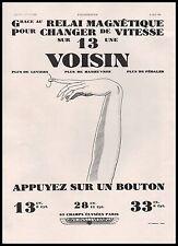 Publicité Automobile Voisin  car vintage print ad 1930 -10h