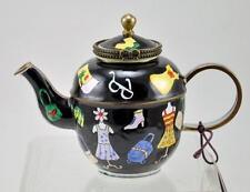 KELVIN CHEN Enamel Mini Copper Teapot -  Fashion Lady  *OLD - Retired