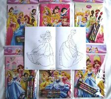 24 Disney Princesses Drawing Coloring Books & 96 pcs Crayon Set School Party Lot