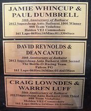 2012 Bathurst  Winners Tribute 2nd & 3rd Gold  Plaque choose 1