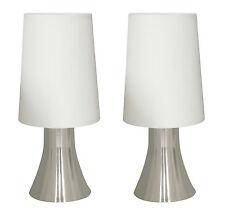 2 x Moderne Nachttischleuchte Tischleuchte Jannis mit Touch Dimmer Tischlampe