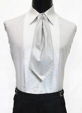 Gentlemen's Silver Ascot / Cravat Tie Victorian Theater Edwardian Morning Dress