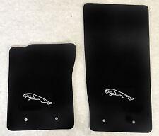 Autoteppich Fußmatten für Jaguar F Type ab2012 schwarz silber Velours 2teilg Neu