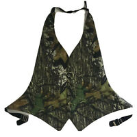Mossy Oak Camouflage Tuxedo Vest Open Back One Size Formal Wedding Prom Camo