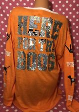 Victoria's Secret Pink Bling Lace Up Halloween Long Sleeve Top Large NWT