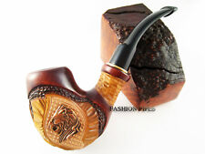 "Tobacco Pipe ""LION"" Wooden Pipe and Gift, Smoking Pipe Handcrafted"