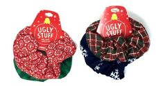 UGLY STUFF 2pc Christmas Holiday Hair Scrunchies - Perfect 4 Ugly Sweater Party