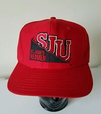 St John's Redmen Red Storm SJU Basketball Vtg Johns Snapback Throwback Retro Hat