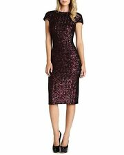 DRESS THE POPULATION 'MARCELLA' OPEN BACK SEQUIN BODY-CON MIDI WINE DRESS sz XL