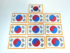 10 Tae Kwon Do Patches Martial Arts NEW Fighting Uniform Patch Yin Yang Flag