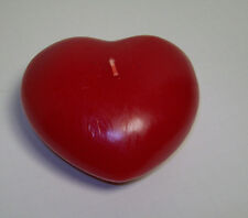 Pottery Barn Valentine's Day Red Heart Shaped Candle Set of 2 New