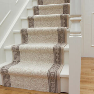 Long Traditional Flecked Stair Carpet Stairs Hallway Cream Runners Sold in Feet