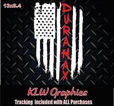 Duramax Diesel Truck 1500 2500 American Flag vinyl sticker Decal thin red line