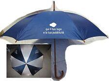 20 ombrelli blu personalizzati stampati su due lati