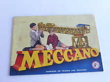 MECCANO MANUEL D'INSTRUCTIONS 5A 1957