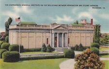 Postcard Confederate Memorial Institute Blvd Kensington + Stuart Ave Richmond VA