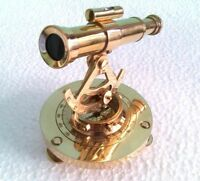 Nautical Telescope Compass Brass Alidade Marine Ship Working Theodolite Alidade