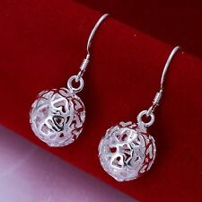 beautiful Fashion Silver Plated Ball earrings jewelry charms women lady new hot