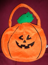 Halloween Pumpkin smile Trick or Treat Candy Bag Passport Plush Toys soft fabric