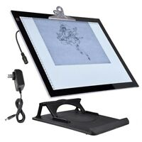 "A3 19"" LED Artist Stencil Board Tattoo Drawing Tracing Light Box Pad with Stand"