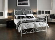 Kingsize King Size Victorian Cast Iron Style 5' foot Bed White