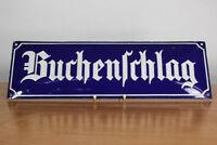 Altes Emailliertes Strassen Schild Buchenschlag Emaille Vintage Street Sign
