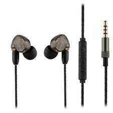 MMCX In-Ear Headphones Earphones w/ Inline Remote & Mic Flexible Durable Cable