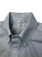 Brooks Brothers Shirt Size 15x32 Regent Fit Non-Iron Blue White Striped Supima
