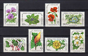 CYPRUS OCCUPIED (TURKISH) 1981-1982 FLOWERS MNH - FREE SHIPPING