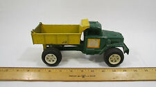Vintage Hubley Might Metal Dump Truck Green and Yellow #108