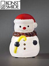 LED Fiberoptik Weihnachtsfigur Schneemann Fiberoptikfigur Weihnacht Konstsmide