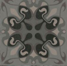 Vives Tassel Grafito 20 x 20cm Dekor Wand-Bodenfl. Muster Fliese Castelo Retro