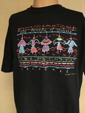 VTG 90s CHEROKEE THE COMING OF THUNDER GRAPHIC T SHIRT Black L SHORT LENGTH