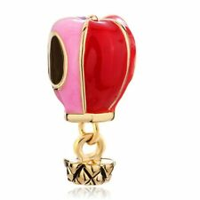 NEW Balloon Charms Gold Red Pink Yellow Purple Necklace Pendant DIY Jewelry Gift