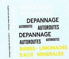 decals pour Dinky: Berliet GAK dépannage autoroutes - plateau brasseur