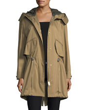 Burberry London Chiltondale Hooded Parka Anorak Size Small Tan Brown