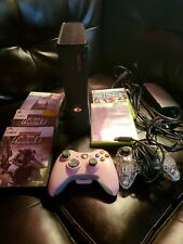 Microsoft Xbox 360 S Slim 250Gb Console System Tested 5 Games 2 Controllers