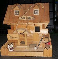 Golf Course Club house Bird feeder wooden, natural/brown
