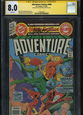 Adventure Comics #466 Cgc 8.0 Ss Jose Luis Garcia-Lopez Aquaman The Flash 1979