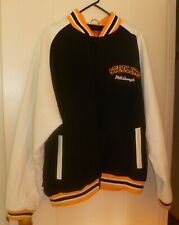 Reebok NFL Gridiron Classic Pittsburgh Steelers Wool   Leather Jacket a65e317aa